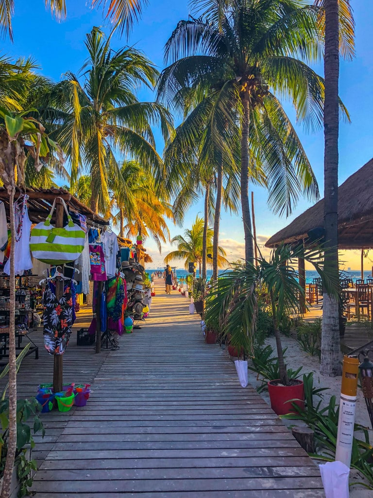 shopping at isla mujeres on the beach