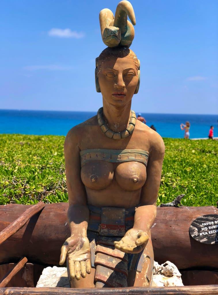 ixchel goddes of isla mujeres cancun quintana roo