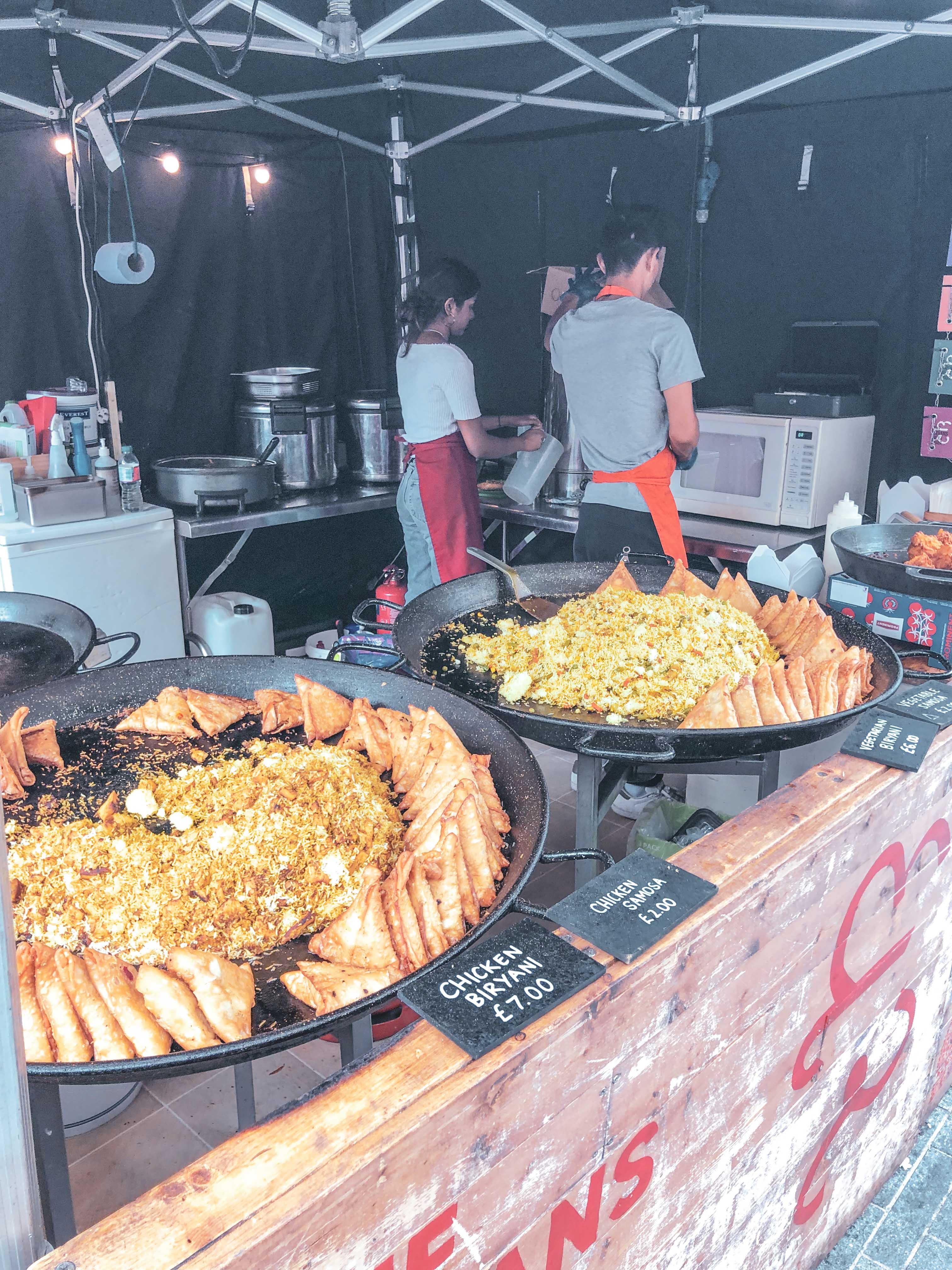 chicken biryani street food london